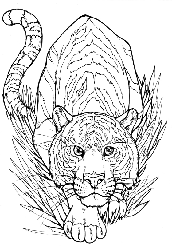 Tiger-Tusche