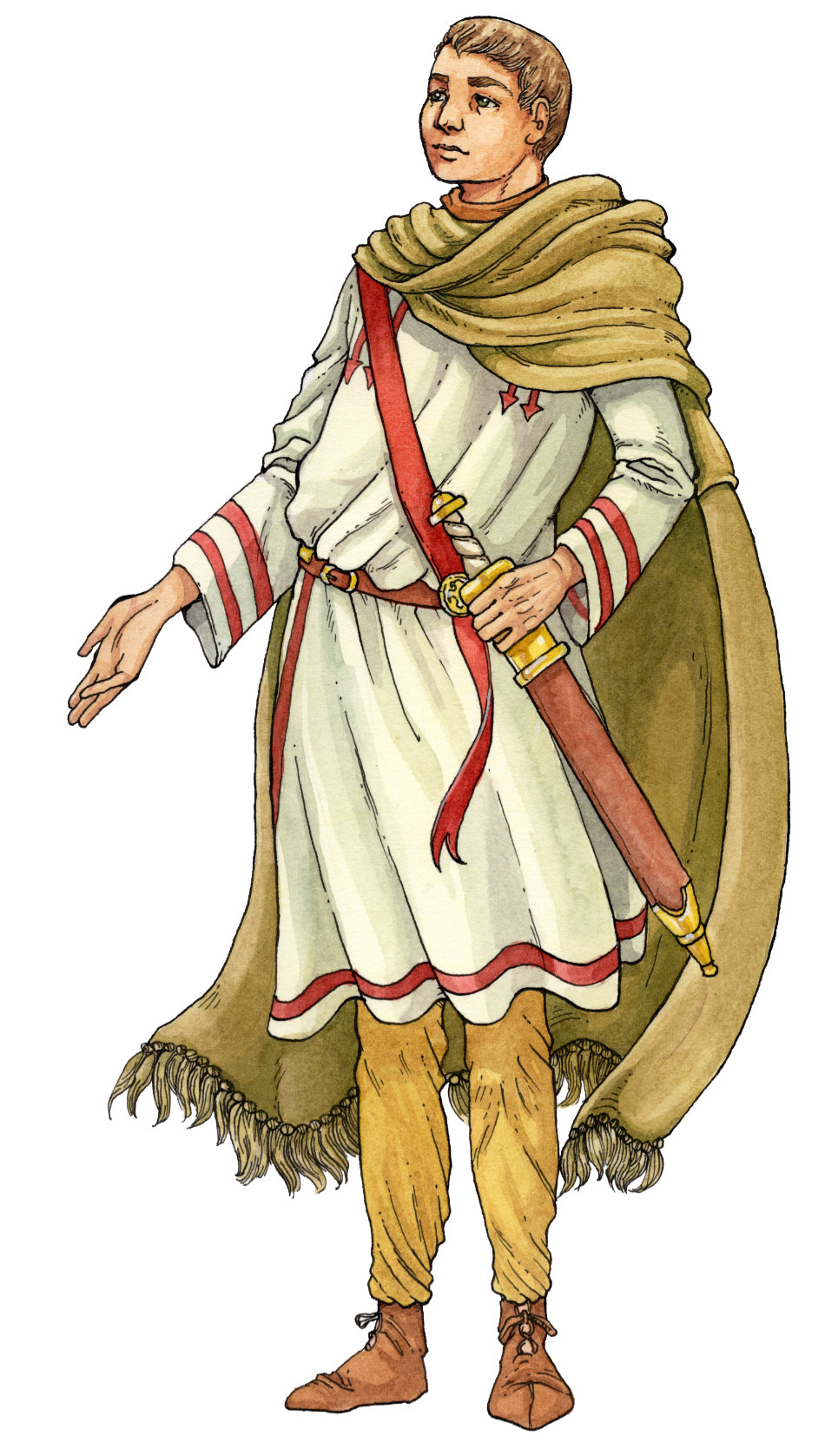 Illustration eines Römers für das Stadtmuseum in Bad Dürkheim. An illustration of a Roman man for the Town's Museum in Bad Dürkheim.